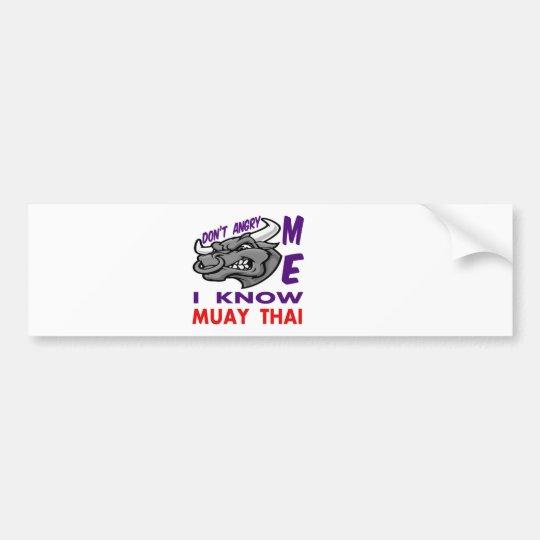 Pegatina Para Coche Hace no enojado, yo sabe tailandés de Muay