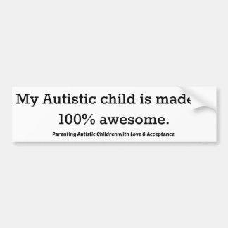 Pegatina Para Coche Hacen mi niño autístico del 100% impresionante