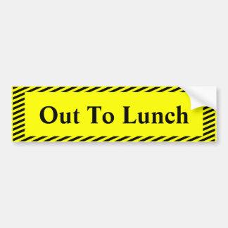 Pegatina Para Coche Hacia fuera al almuerzo