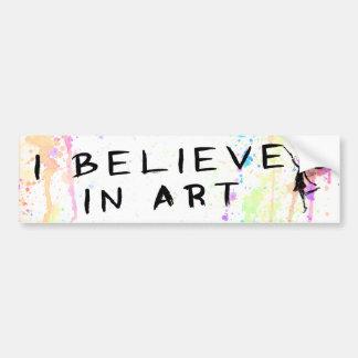Pegatina Para Coche Hada del arte: Creo en acuarela del arte