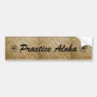 Pegatina Para Coche Hawaiana de la práctica