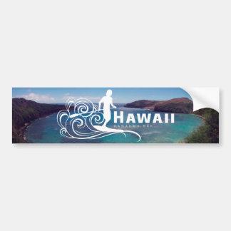 Pegatina Para Coche Hawaii se levanta la paleta y la bahía de Hanauma