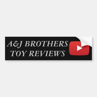 Pegatina Para Coche hermanos youtube del a&j