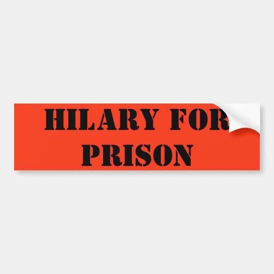 Pegatina Para Coche Hilary para la prisión