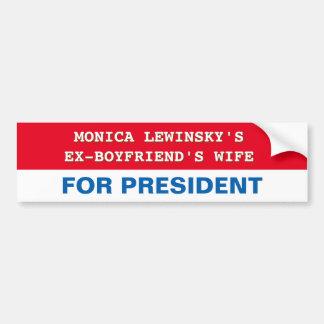 Pegatina Para Coche Hillary Clinton divertida para el presidente
