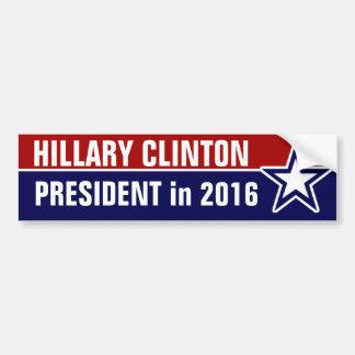 Pegatina Para Coche Hillary Clinton en 2016