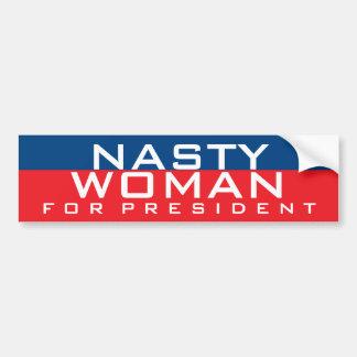 Pegatina Para Coche Hillary Clinton para la mujer desagradable del