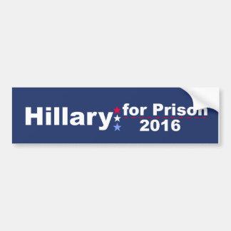 Pegatina Para Coche Hillary para la prisión 2016