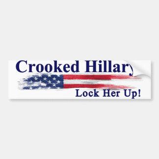 Pegatina Para Coche Hillary torcida la cierra para arriba
