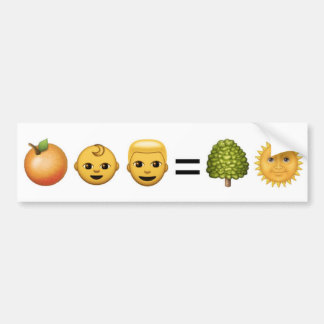 Pegatina Para Coche hombre del bebé = sol anaranjados del árbol