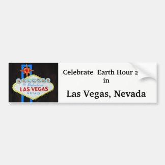 Pegatina Para Coche Hora de la tierra en Las Vegas