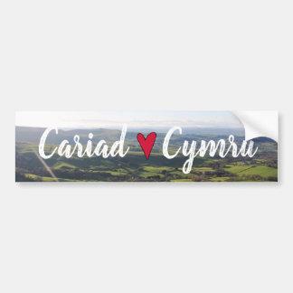 Pegatina Para Coche Horizonte hermoso Galés del paisaje de la opinión