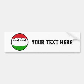 Pegatina Para Coche Hungría Geeky que tiende divertida Countryball