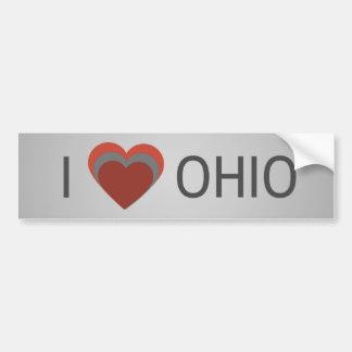 Pegatina Para Coche I <3 (corazón) Ohio
