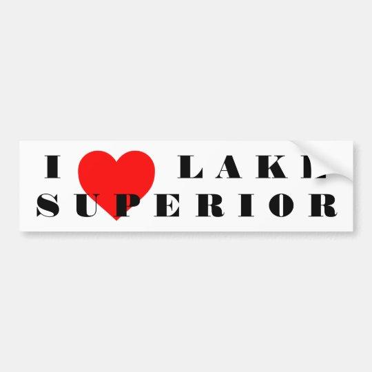 Pegatina Para Coche I corazón el lago Superior
