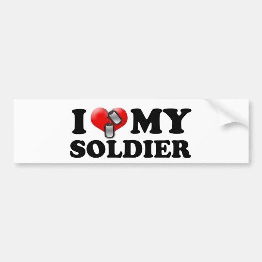 Pegatina Para Coche I (corazón) mi soldado