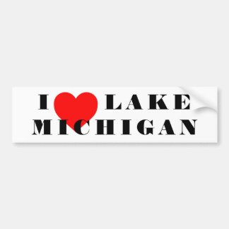 Pegatina Para Coche I corazón Michigan