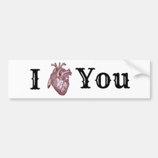 Pegatina Para Coche I corazón usted