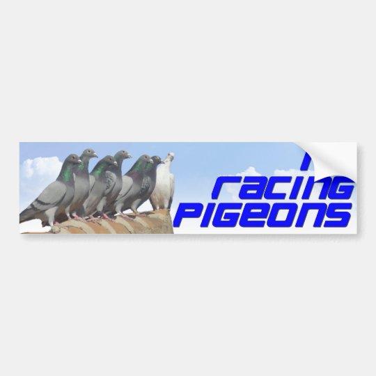 Pegatina Para Coche I love racing pigeons