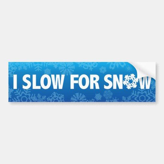 Pegatina Para Coche I redúzcase para la nieve - advierta el invierno