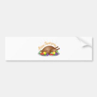Pegatina Para Coche Ilustracion cocido día de la cena de Turquía de la