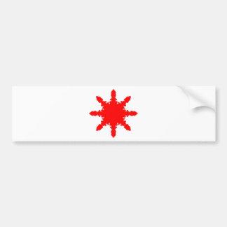 Pegatina Para Coche Impresión circular roja