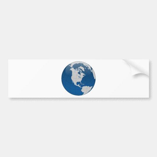 Pegatina Para Coche Impresión de alta calidad de la tierra azul