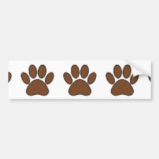 Pegatina Para Coche Impresión de la pata del perro del pixel