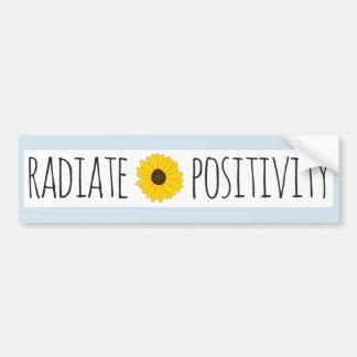 Pegatina Para Coche Irradie el girasol de la positividad