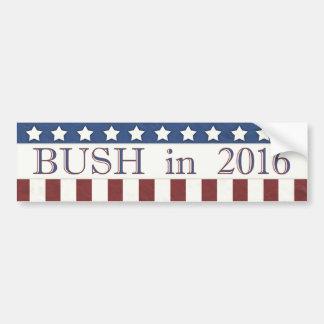 Pegatina Para Coche Jeb Bush 2016 barras y estrellas