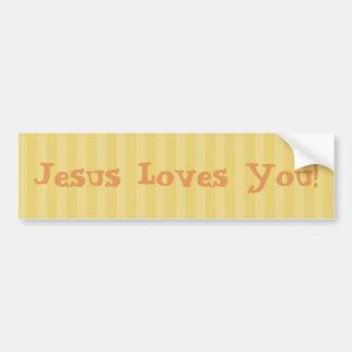 Pegatina Para Coche ¡Jesús cristiano le ama!