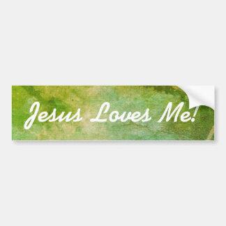 Pegatina Para Coche ¡Jesús cristiano me ama!