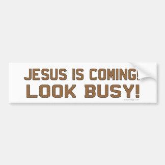 Pegatina Para Coche Jesús está viniendo - parezca ocupado