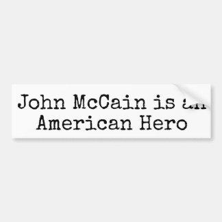 Pegatina Para Coche John McCain Bumpersticker: MCCAIN ES HÉROE