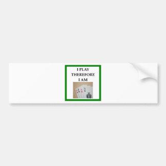 Pegatina Para Coche jugador de tarjeta