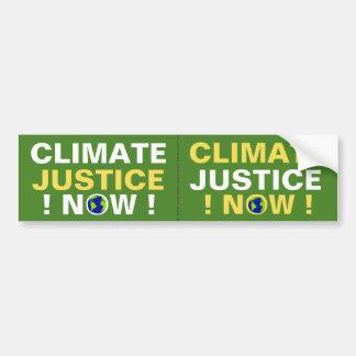 PEGATINA PARA COCHE ¡JUSTICIA DEL CLIMA AHORA!