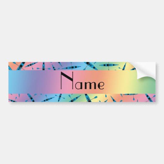 Pegatina Para Coche Kajaks conocidos personalizados del arco iris