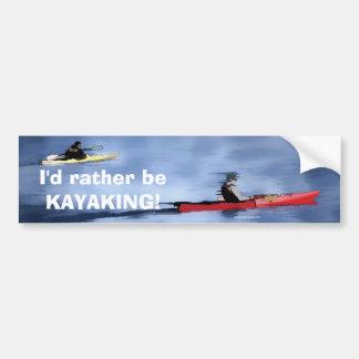 Pegatina Para Coche Kayakers del lago