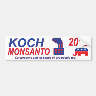 Pegatina Para Coche Koch Monsanto para el presidente 2016