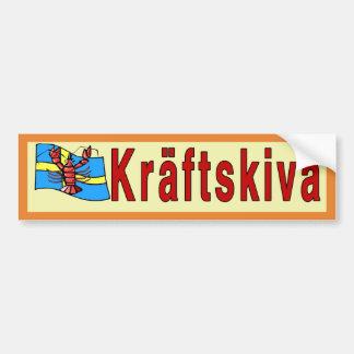 Pegatina Para Coche Kräftskiva, fiesta de los cangrejos, Suecia