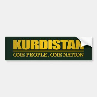 Pegatina Para Coche Kurdistan (una personas, una nación)