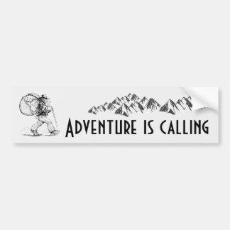 Pegatina Para Coche La aventura está llamando - haciendo excursionismo