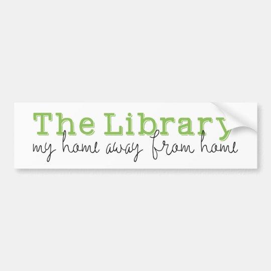 Pegatina Para Coche La biblioteca: Mi hogar de fuera