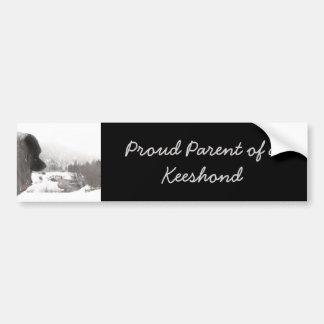 Pegatina Para Coche La cala de la sombra del Keeshond que pinta arte