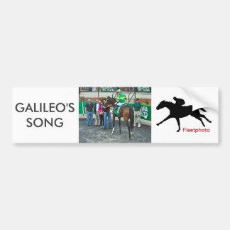 Pegatina Para Coche La canción de Galileo