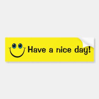 Pegatina Para Coche La cara sonriente tiene un día agradable