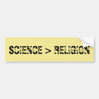 Pegatina Para Coche La ciencia es mayor que la religión