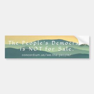 Pegatina Para Coche La democracia de gente