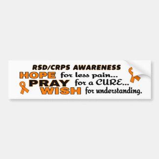 Pegatina Para Coche La esperanza ruega el deseo… RSD/CRPS