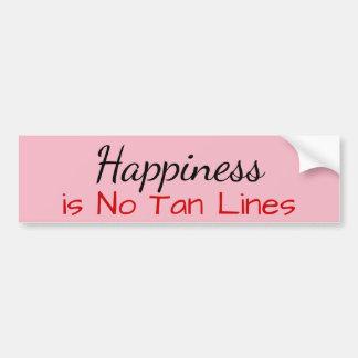 Pegatina Para Coche La felicidad no es ninguna línea del moreno